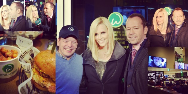 #SPOTTED: JENNY MCCARTHY, PAUL + DONNIE WAHLBERG IN TORONTO FOR WAHLBURGERS