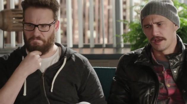 "#FIRSTLOOK: LIZ (NICK KROLL) GIVES JAMES FRANCO + SETH ROGEN PUBLICITY TIPS ON ""THE INTERVIEW"""