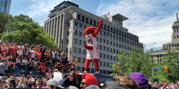 #SPOTTED: TORONTO RAPTORS AT NBA CHAMPIONSHIP PARADE