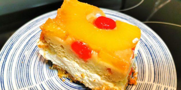 #COOKING: PINEAPPLE UPSIDE-DOWN CAKE CHEESECAKE RECIPE