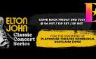 #FIRSTLOOK ELTON JOHN CLASSIC CONCERT SERIES ON YOUTUBE